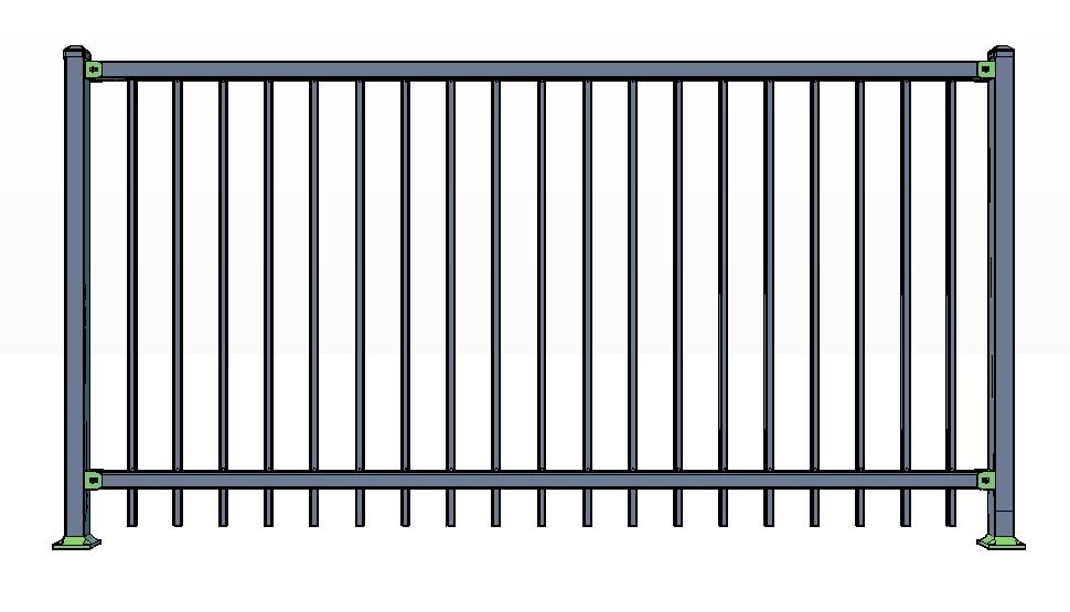 2-Rail CORTINA Fence Panels