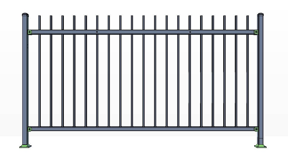 2 Rail Killington Fence Panels Commercial Lite