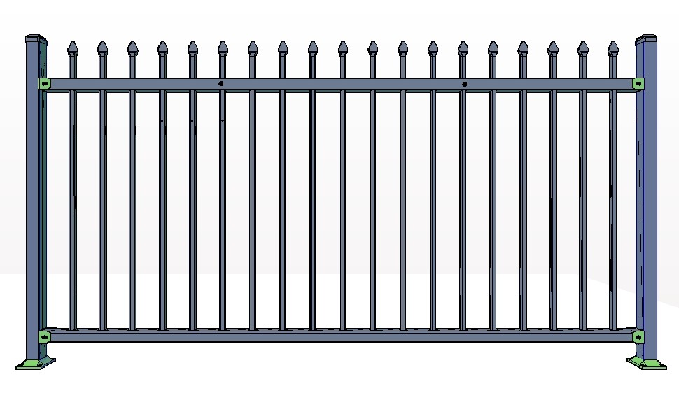 2-Rail ASPEN Fence Panels