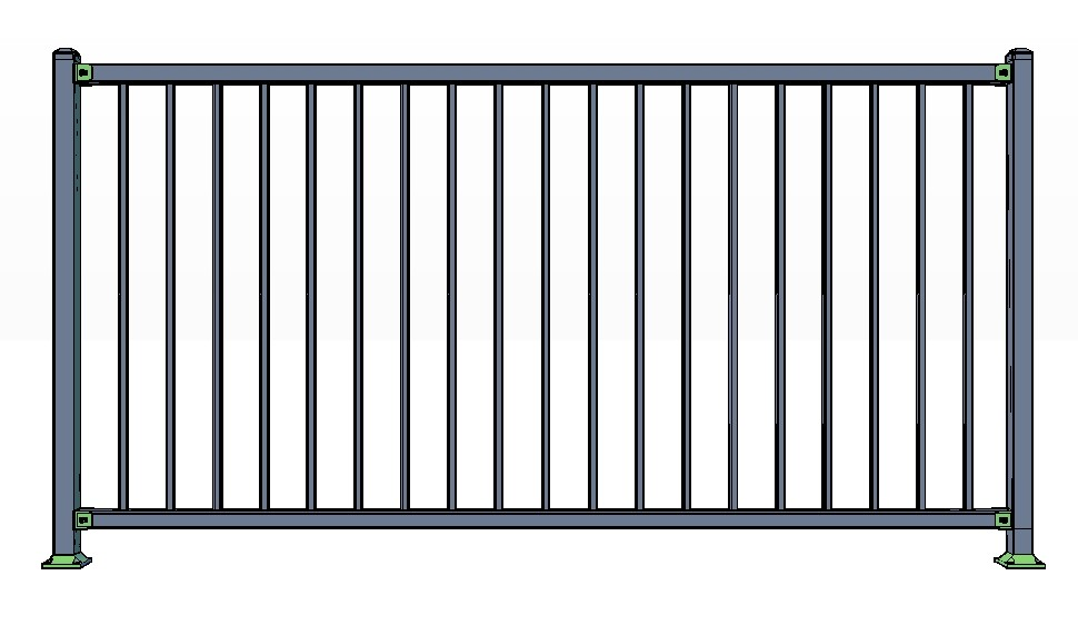 2-Rail VAIL Fence Panels