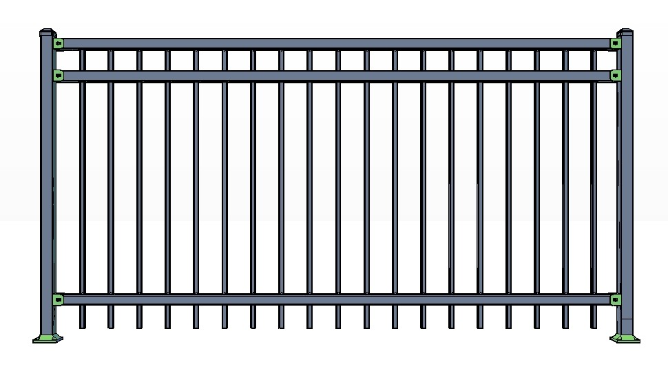 3-Rail CORTINA Fence Panels