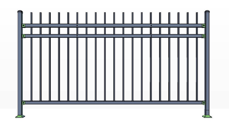 3 Rail Killington Fence Panels Commercial Lite