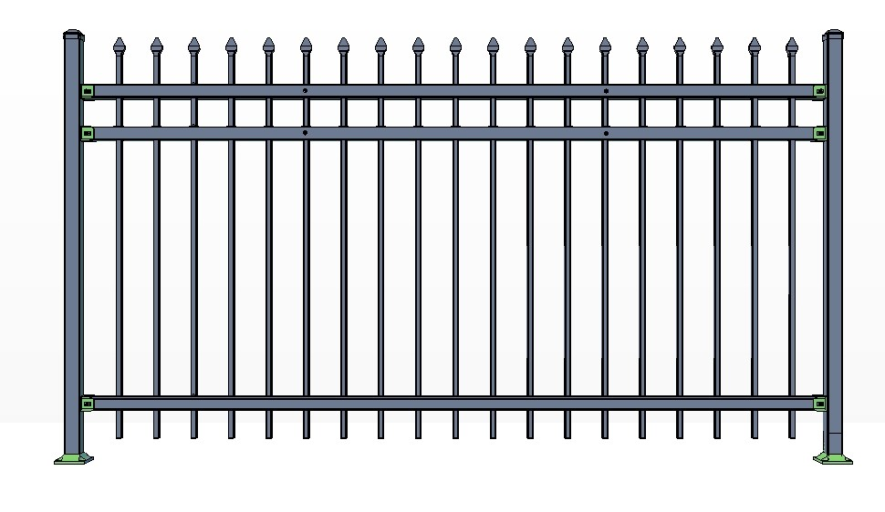 3-Rail STOWE Fence Panels
