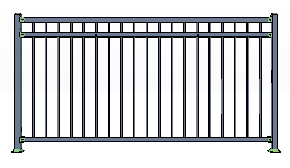 3-Rail VAIL Fence Panels