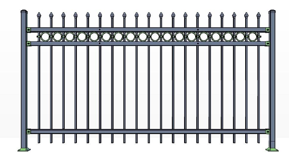 3-Rail STOWE Fence Panels w/ Rings