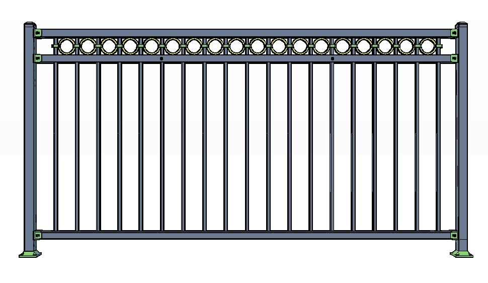 3-Rail VAIL Fence Panels w/ Rings
