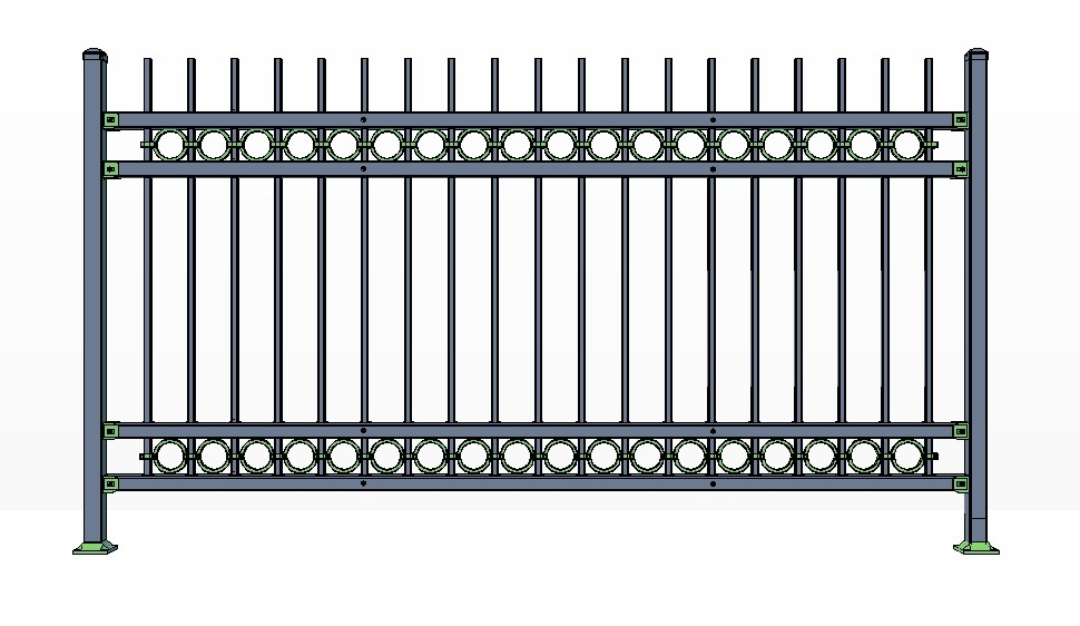 4-Rail KILLINGTON Fence Panels w/ Rings