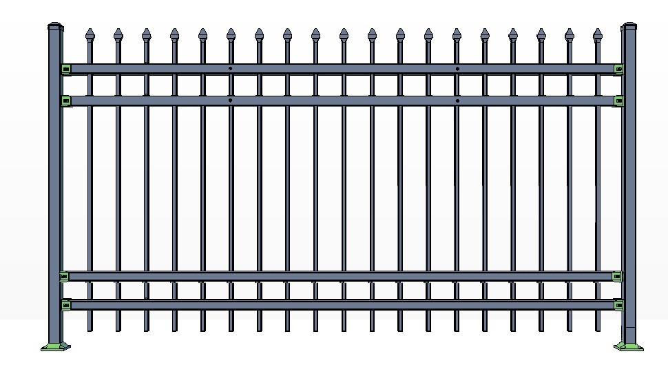 4-Rail STOWE Fence Panels