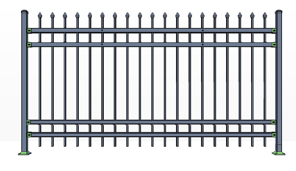 4 Rail Stowe Fence Panels Commercial Lite
